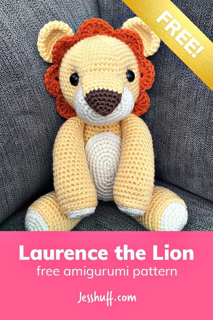 Lion Amigurumi Pattern - Free Crochet Pattern • Craft Passion | 1080x720