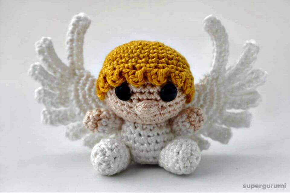 Amazon.com: Christmas Angel Doll - Amigurumi Crochet Art Doll ... | 641x960