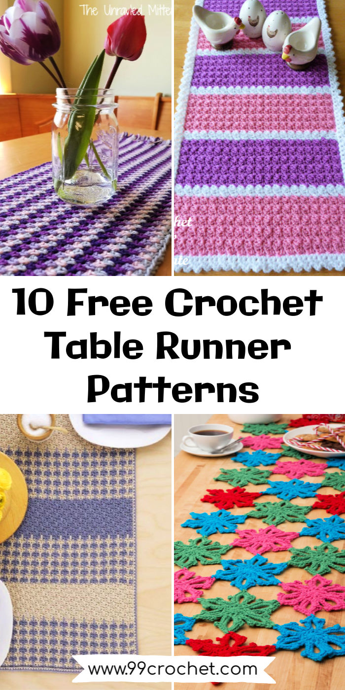 Tablerunners of varying styles and colors