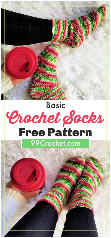 Basic Crochet Socks Pattern
