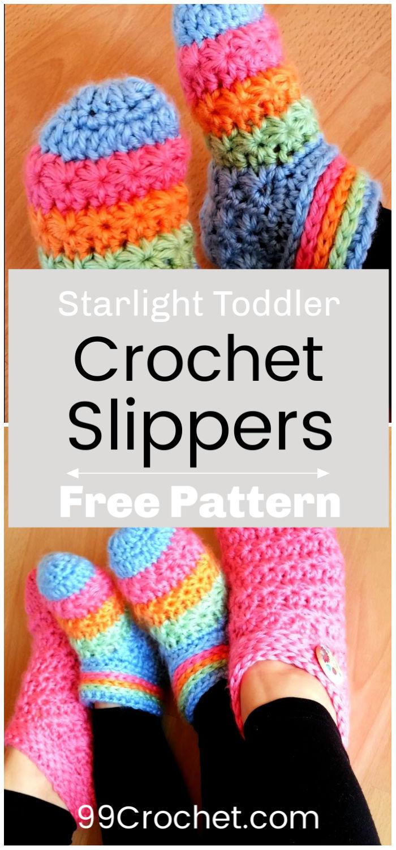 Crochet Starlight Toddler Slippers