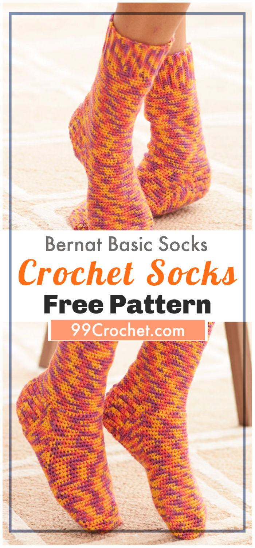 Free Crochet Bernat Basic Socks