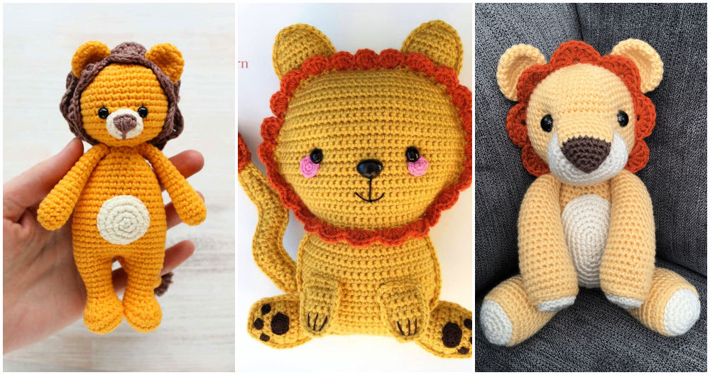 Cute Lion Amigurumi Free Crochet Patterns | 528x1000