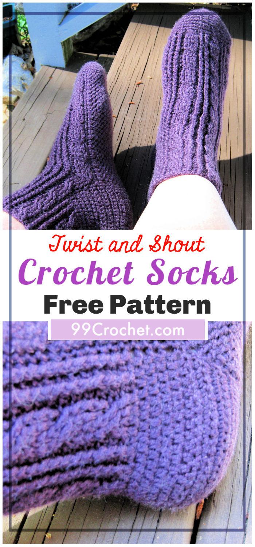 Free Crochet Twist and Shout Socks